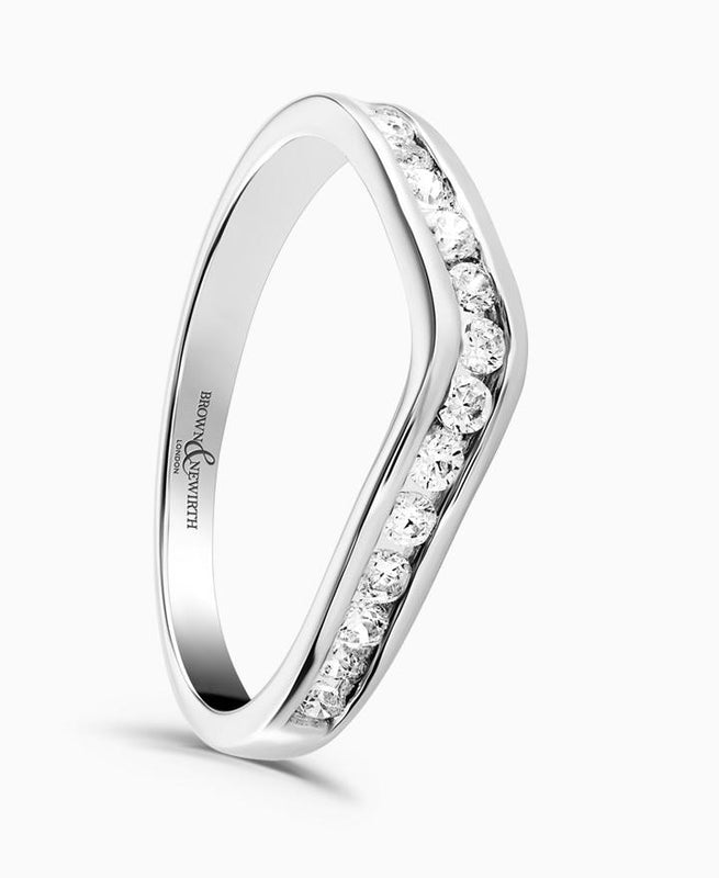 Brown & Newirth Poise 0.33ct Diamond Eternity Ring in 18ct White Gold
