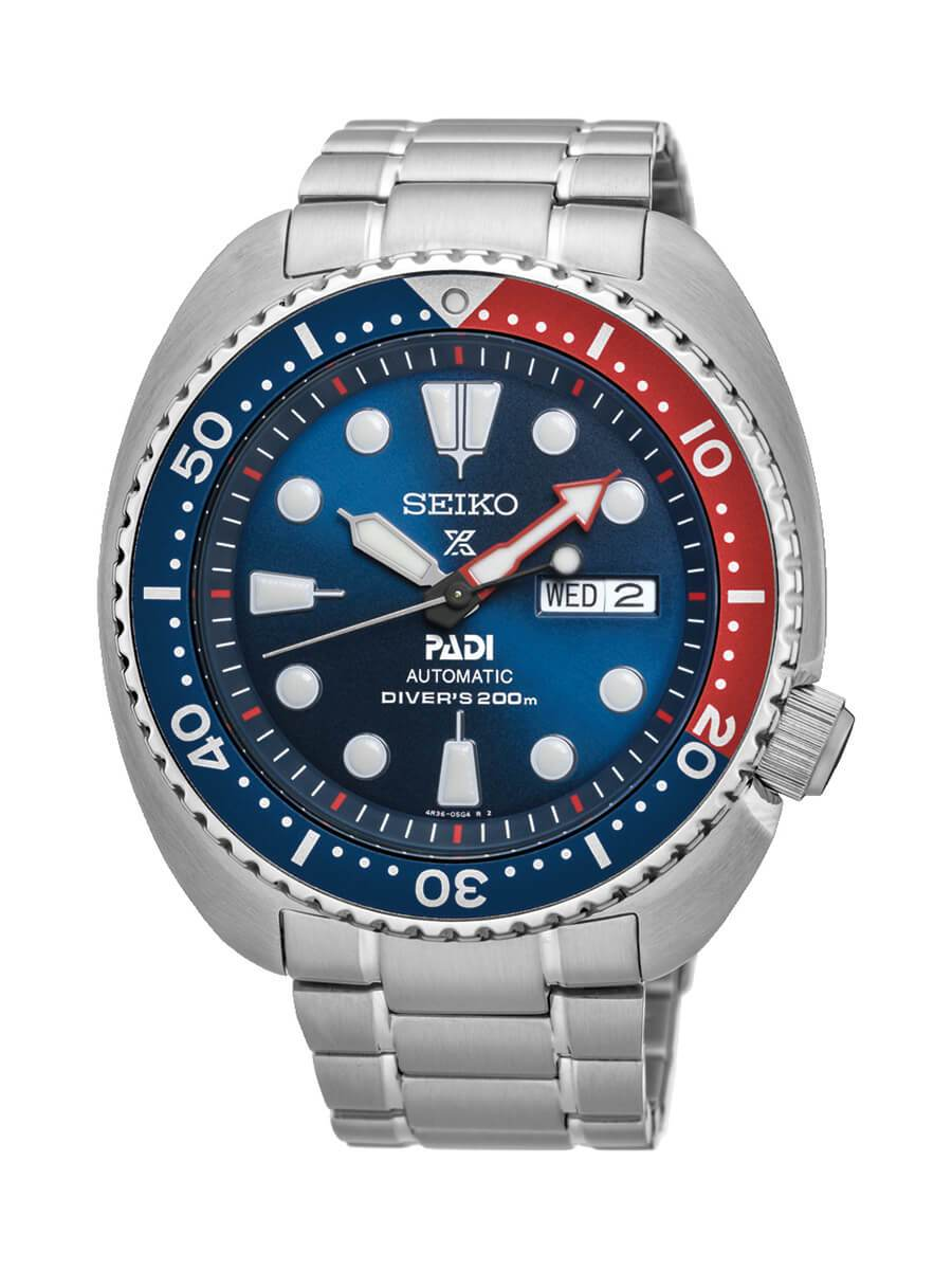 Seiko Gents Prospex PADI Special Edition Stainless Steel Automatic Diver's Watch on Bracelet SRPA21K1