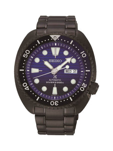 Seiko Gents Prospex Save The Ocean Black Plated Stainless Steel Automatic Watch on Bracelet SRPD11K1