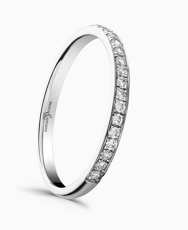 Brown & Newirth Sweetheart 0.15ct Diamond Eternity Ring in Platinum