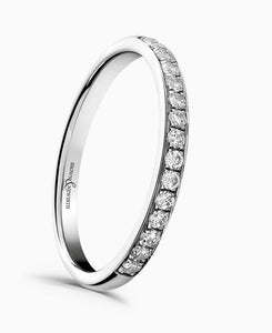 Brown & Newirth Sweetheart 0.25ct Diamond Eternity Ring in Platinum