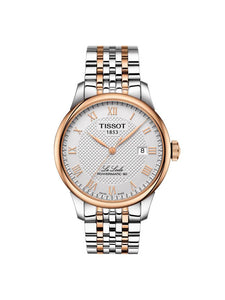 Tissot Gents 39.3mm Le Locle Powermatic 80 Bi-Colour Stainless Steel Watch on Bracelet T006.407.22.033.00