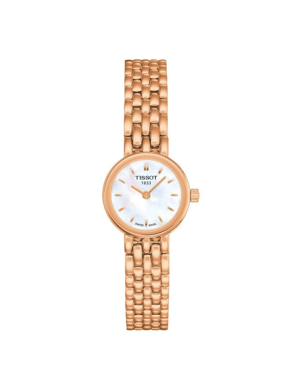 Tissot Ladies 19.5mm Lovely Rose Gold PVD Stainless Steel Quartz Watch on Bracelet T058.009.33.111.00