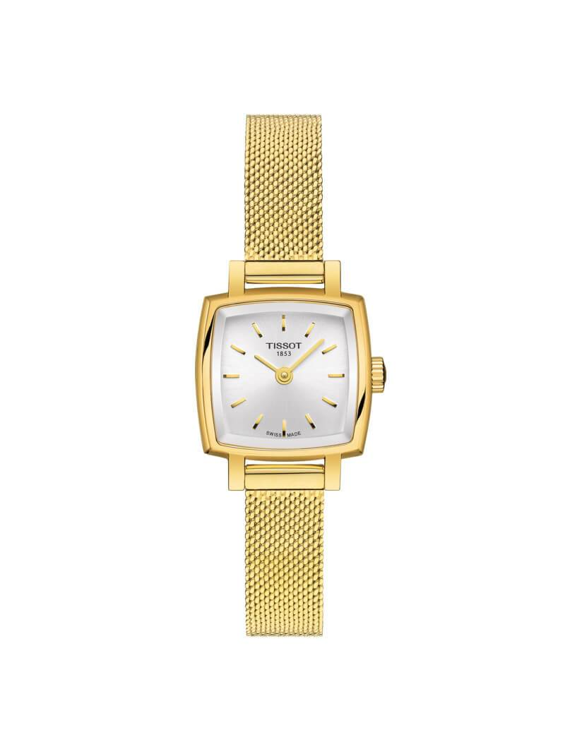 Tissot Ladies 20mm Lovely Square Gold PVD Stainless Steel Quartz Watch on Strap T058.109.33.031.00