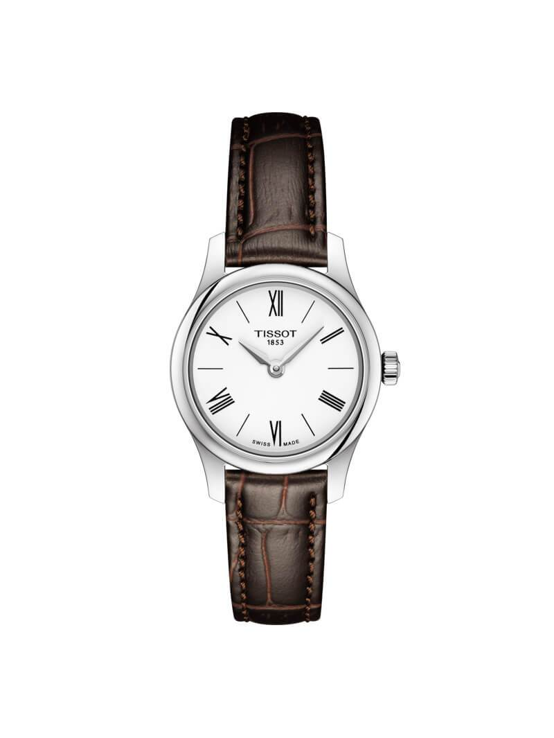 Tissot Ladies 25mm Tradition Stainless Steel Quartz Watch on Leather Strap T063.009.16.018.00