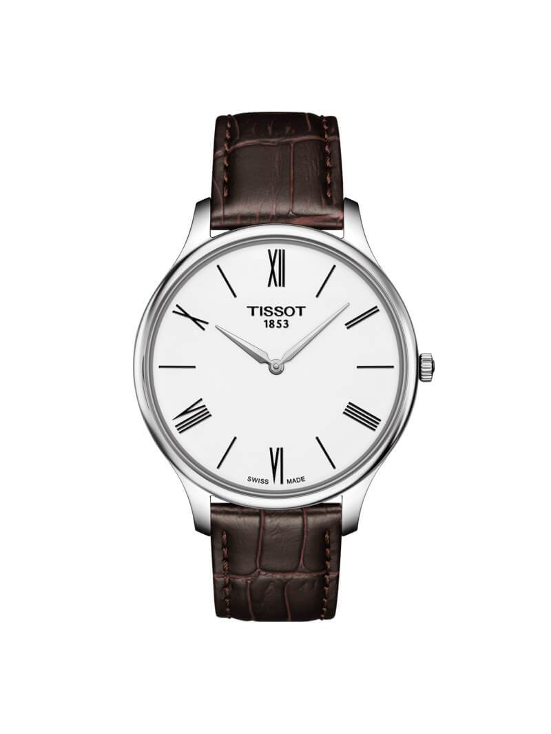 Tissot Gents 39mm Tradition Stainless Steel Quartz Watch on Leather Strap T063.409.16.018.00
