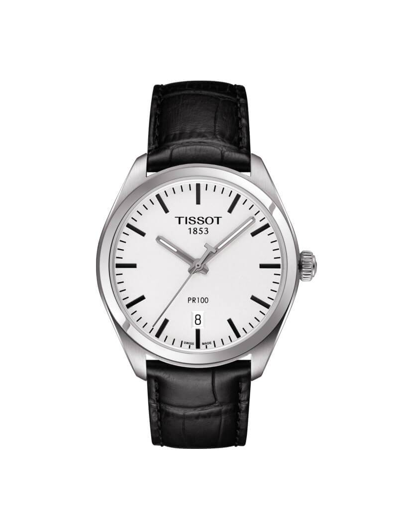 ae3135f8086 Tissot Gents 39mm PR100 Stainless Steel Quartz Watch on Leather Strap  T101.410.16.031.00