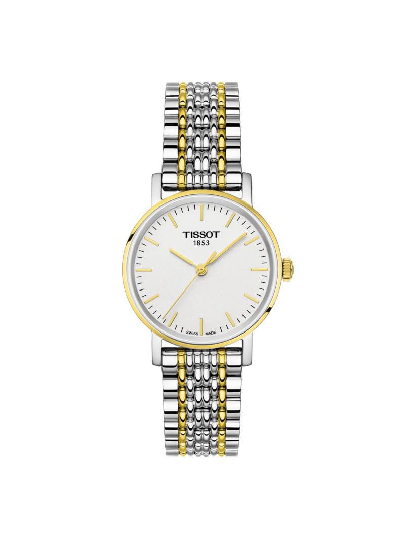 Tissot Ladies 30mm Everytime Small Bi-Colour Stainless Steel Quartz Watch on Bracelet T109.210.22.031.00