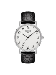 Tissot 38mm Everytime Medium Stainless Steel Quartz Watch on Leather Strap T109.410.16.032.00