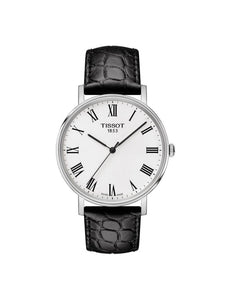 Tissot 38mm Everytime Medium Stainless Steel Quartz Watch on Leather Strap T109.410.16.033.01