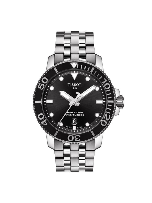 Tissot Gents 43mm Seastar 1000 Powermatic 80 Stainless Steel Watch on Bracelet T120.407.11.051.00
