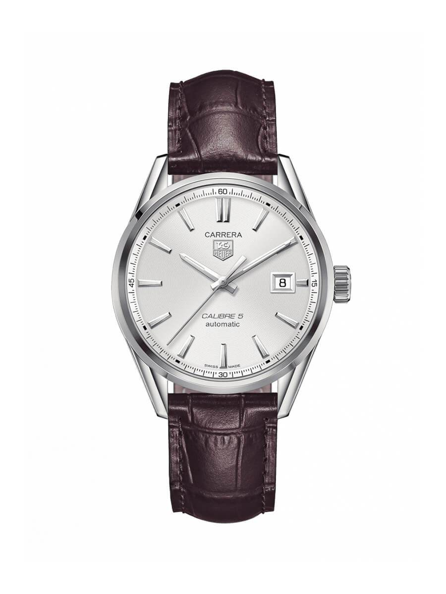 TAG Heuer Gents 39mm Carrera Stainless Steel Automatic Watch on Leather Strap WAR211B.FC6181