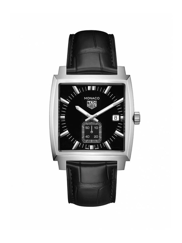 TAG Heuer Gents 37mm Monaco Stainless Steel Quartz Watch on Leather Strap WAW131A.FC6177