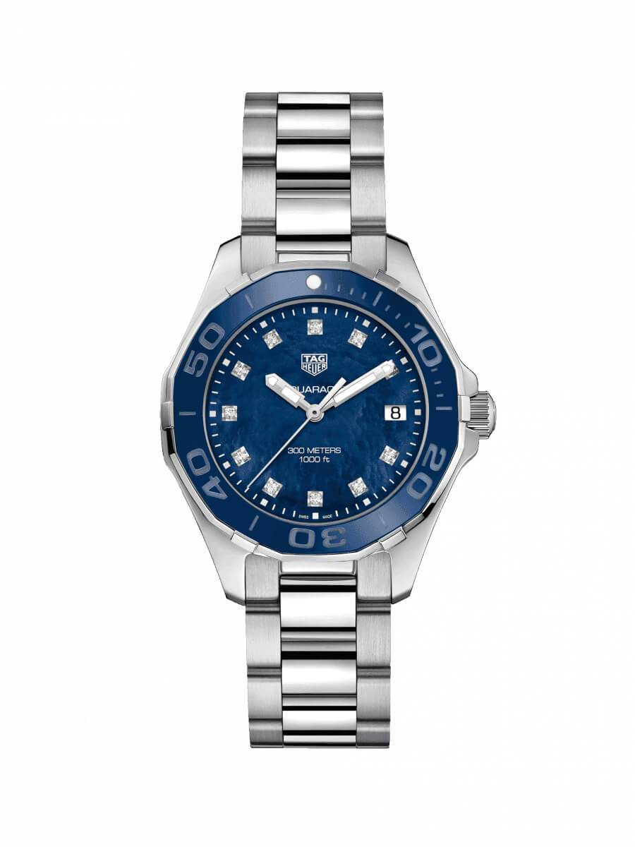 TAG Heuer Ladies 35mm Aquaracer Stainless Steel Quartz Watch on Bracelet WAY131L.BA0748