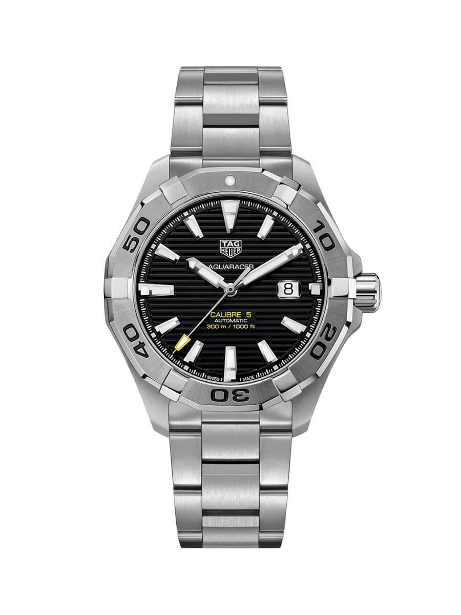 TAG Heuer Gents 43mm Aquaracer Stainless Steel Automatic Watch on Bracelet WAY2010.BA0927