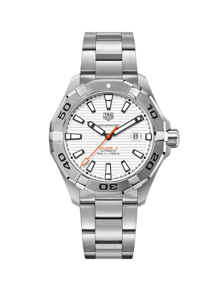 TAG Heuer Gents 43mm Aquaracer Stainless Steel Automatic Watch on Bracelet WAY2013.BA0927