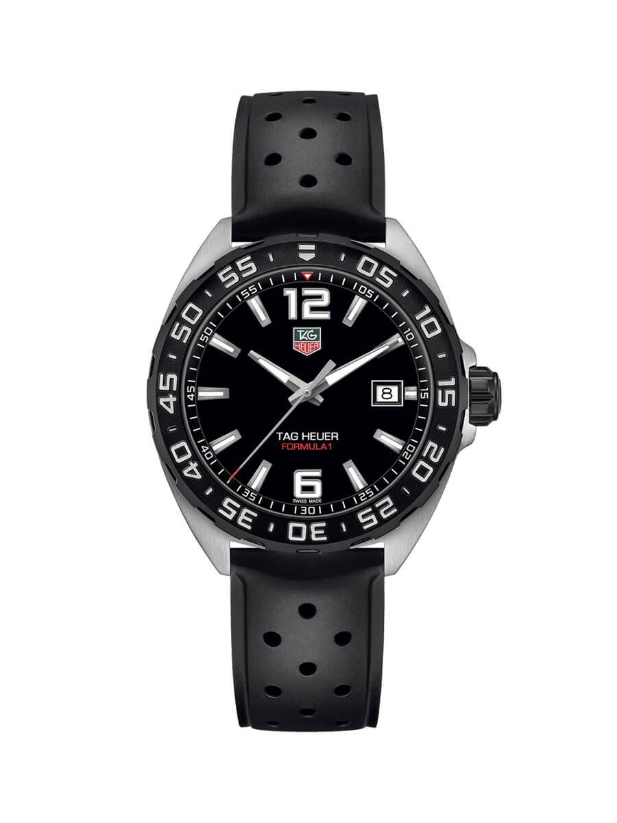 TAG Heuer Gents 41mm Formula 1 Stainless Steel Quartz Watch on Rubber Strap WAZ1110.FT8023