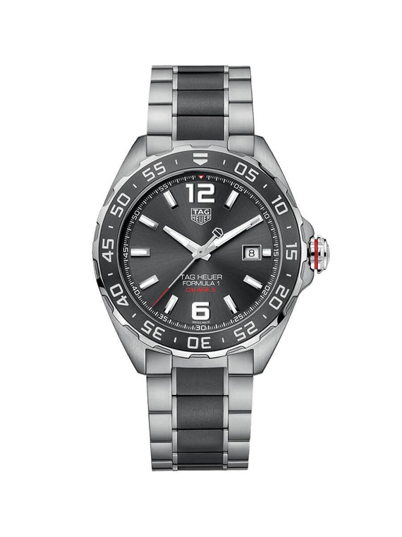 TAG Heuer Gents 43mm Formula 1 Stainless Steel and Ceramic Automatic Watch on Bracelet WAZ2011.BA0843