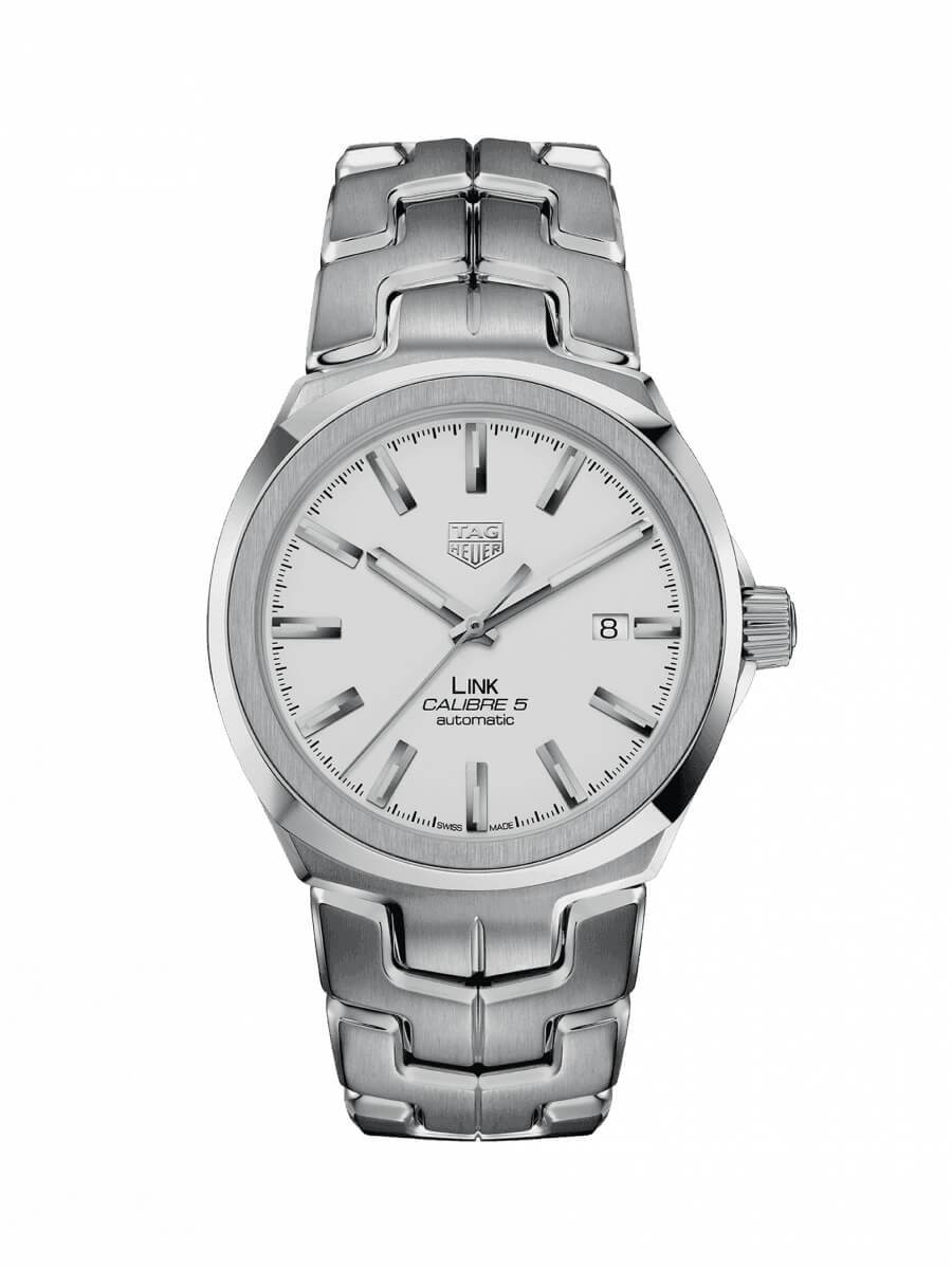 TAG Heuer Gents 41mm Link Stainless Steel Automatic Watch on Bracelet WBC2111.BA0603