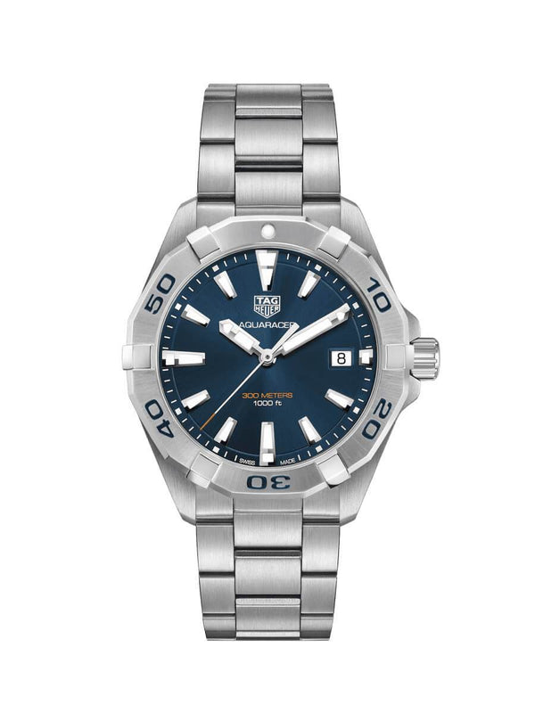 TAG Heuer Gents 41mm Aquaracer Stainless Steel Quartz Watch on Bracelet WBD1112.BA0928