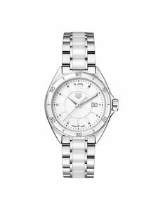 TAG Heuer Ladies 32mm Formula 1 Steel & White Ceramic Watch on Bracelet WBJ141AC.BA0974
