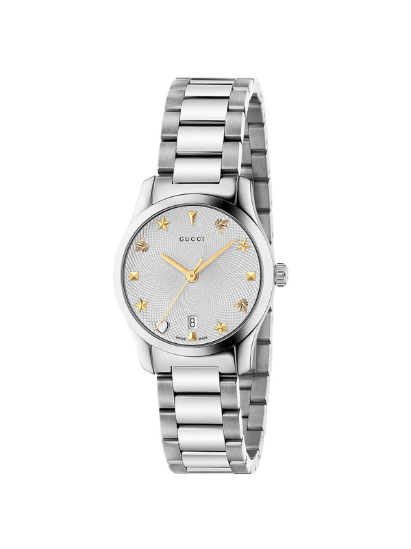 YA126572A Gucci Ladies 27mm Steel G-Timeless Quartz Watch on Bracelet