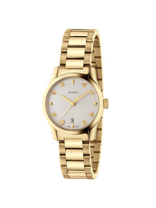 YA126576A Gucci Ladies 27mm Gold PVD Steel G-Timeless Quartz Watch on Bracelet