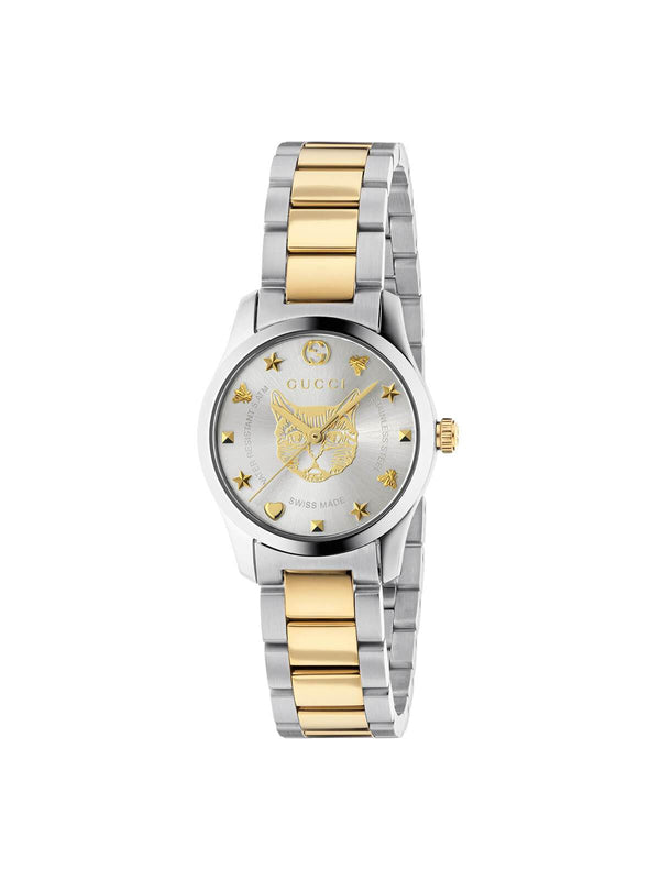 YA126596 Gucci Ladies 28mm Steel & Gold PVD G-Timeless Quartz Watch on Bracelet