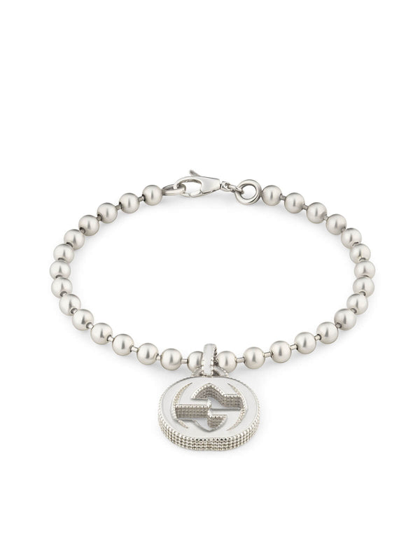 YBA479226001017 Gucci Interlocking G Silver Bracelet