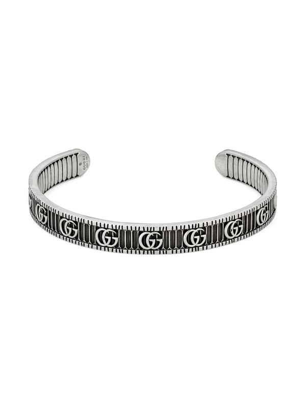 Gucci Double G Bangle 8mm in Silver 18cm YBA551903001018