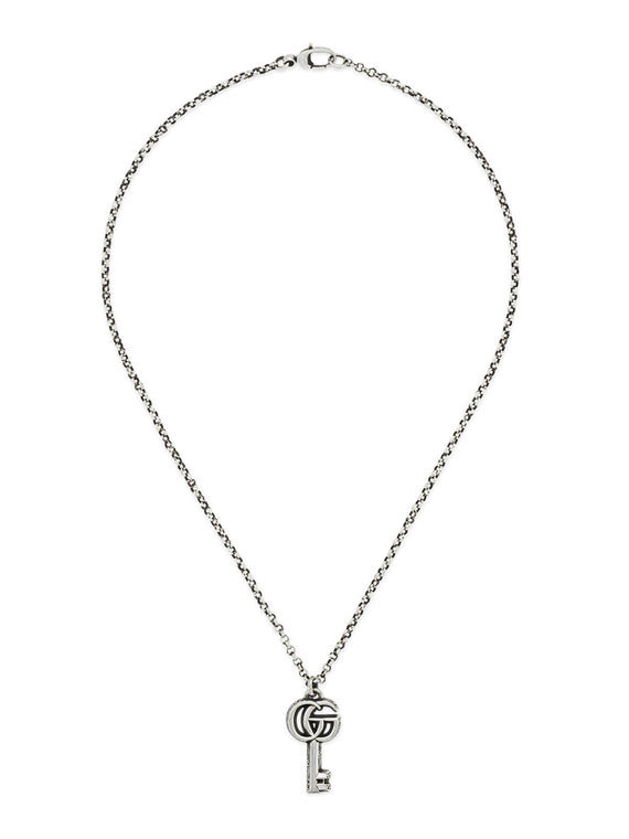 Gucci Double G Key Necklace in Silver YBB62775700100U