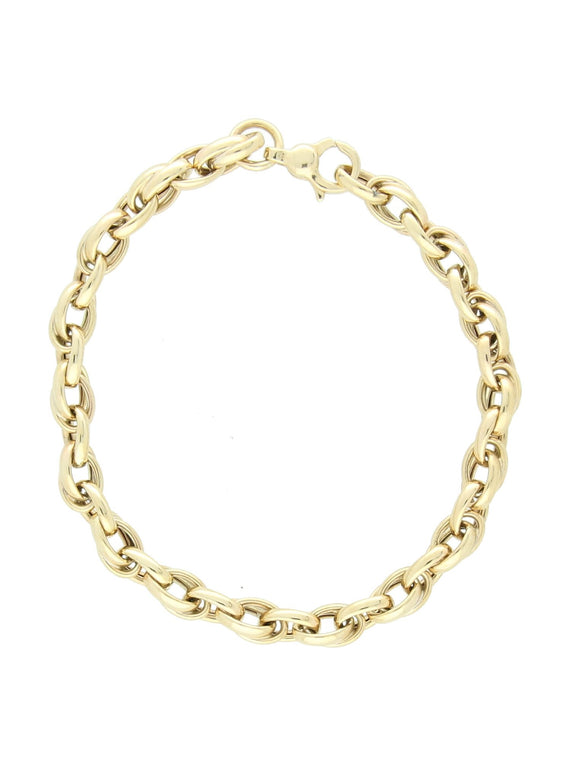Fancy Link Bracelet in 9ct Yellow Gold