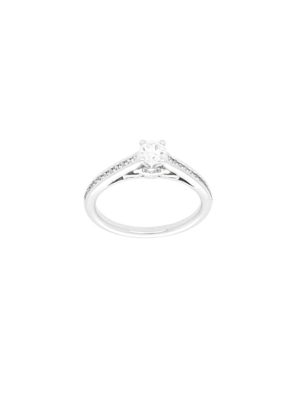 Silver & Cubic Zirconia Ring with Zirconia Set Shoulders