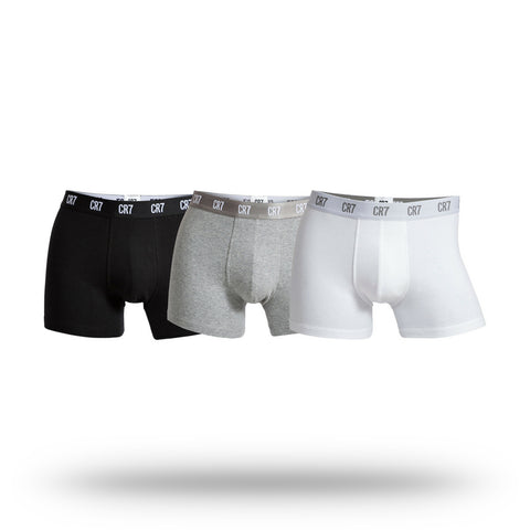 CR7 Men's 3 Pack Trunks - Mixed Basics
