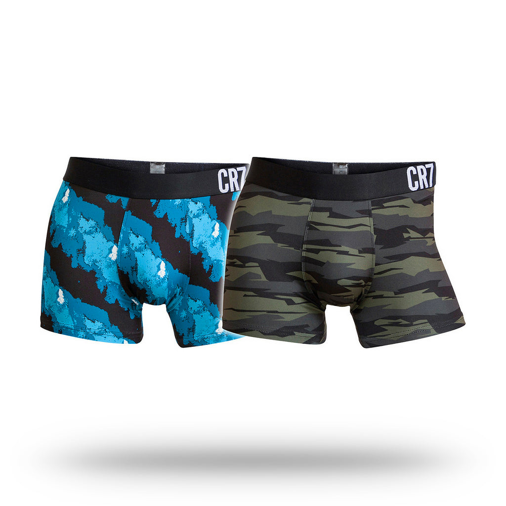 Mens 2 Pack Trunks - Microfiber Camo