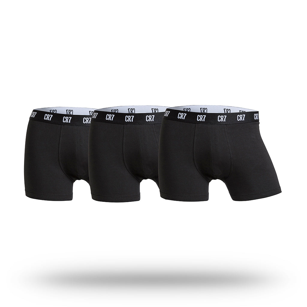 CR7 Mens Cotton Stretch Underwear 3 Pack - Black