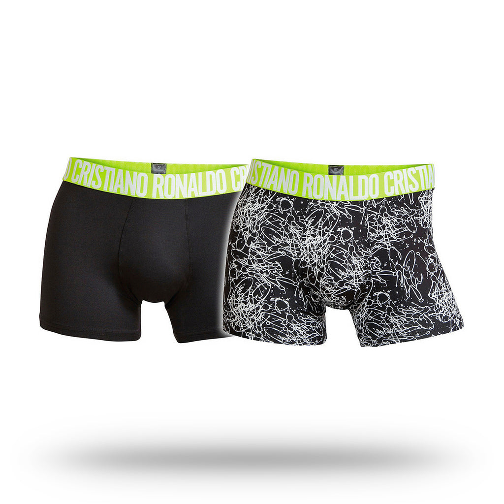 CR7 Mens Microfiber Underwear 2 Pack - Green Band