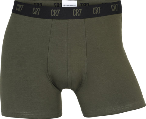 CR7 Men's 3 Pack - Organic Cotton Blend [Black / Graphic / Moss Green]