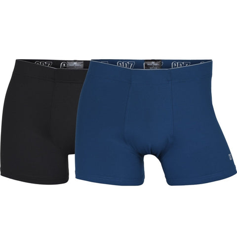 Men's 2-Pack Fashion Microfiber Trunks, Black|Blue