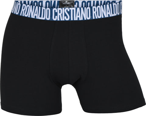 CR7 Men's 3 Pack - NEW Organic Cotton Blend [Black with Grey / Blue Bands]