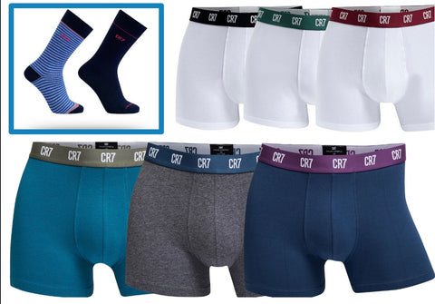 LIGA NOS Bundle - (2) Men's 3-Pack Trunks, (1) 2-Pack Socks 30% OFF Retail