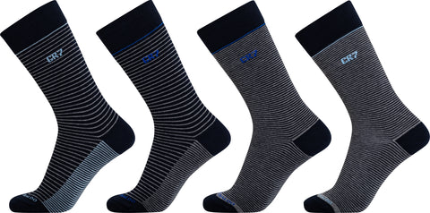CR7 Men's Socks - Cotton Stretch - 4 Pack in Gift Package