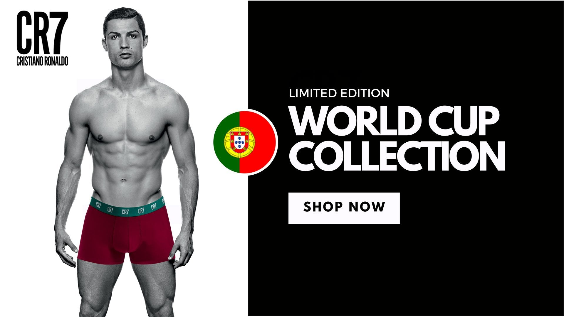 Featured Products. Previous. CR7 Mens Cotton Stretch Underwear 3 Pack -  Black 2661b33d5