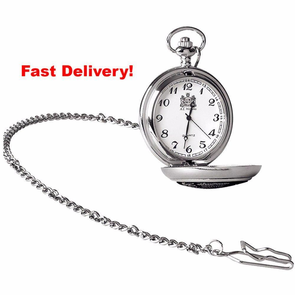 Pocket Watch Store A.E. Williams Quartz Movement Pocket Watch Plain