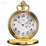 Pocket Watch Store Kronen & Söhne Classic Elegant Half Hunter Pocket Watch