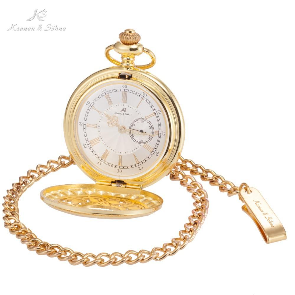 Pocket Watch Store Kronen & Söhne Classic Half Hunter Pocket Watch