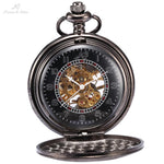 Pocket Watch Store Kronen & Söhne Dark Elegant Half Hunter Pocket Watch