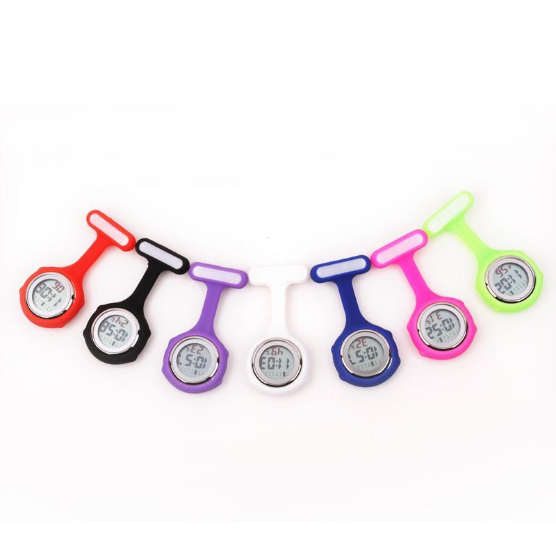 Pocket Watch Store Nurse Watch Digital Silicone with Clip