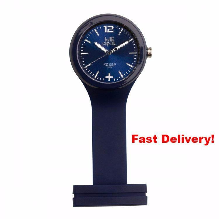 Pocket Watch Store Nurses Watch Blue with Blue Face
