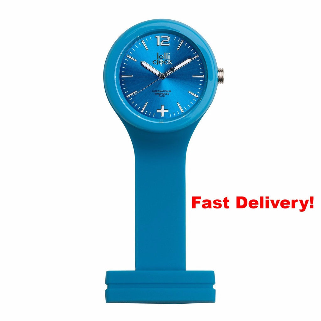 Pocket Watch Store Nurses Watch Light Blue with Light Blue Face